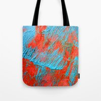 coral Tote Bags featuring Coral  by haroulita