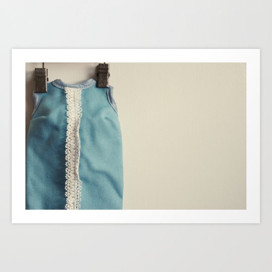 Doll Closet Series - Blue Dress Art Print
