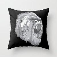 gorilla Throw Pillows featuring Gorilla by Taranta Babu