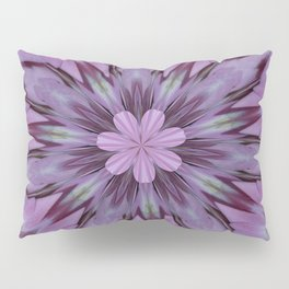 Floral Abstract Of Pink Hydrangea Flowers Pillow Sham