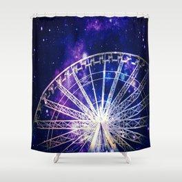 Galaxy Ferris Wheel Shower Curtain
