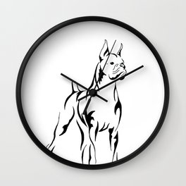 Boxer Tribal Wall Clock