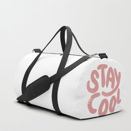 Stay Cool Vintage Pink Duffle Bag