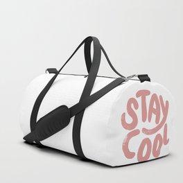 Stay Cool Vintage Pink Duffle Bag