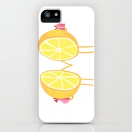 Halves of the orange iPhone Case