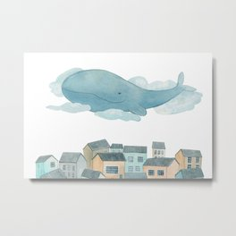 A whale in the sky Metal Print