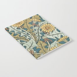 Art Nouveau Dandelion Pattern Notebook