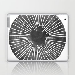 Black and White Circle Laptop & iPad Skin