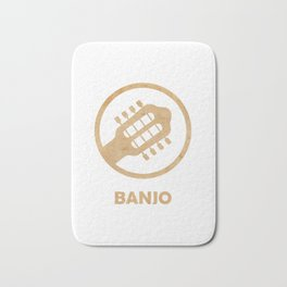 Awesome Banjo's Tshirt Design Billy Goat Banjo Bath Mat