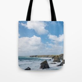 Bedruthan Steps Newquay Cornwall Tote Bag