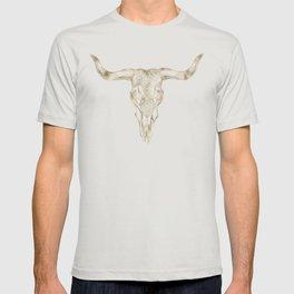 Bull Skull Gold T-shirt