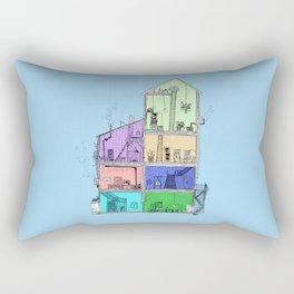 Home Sweet Home (Color) Rectangular Pillow