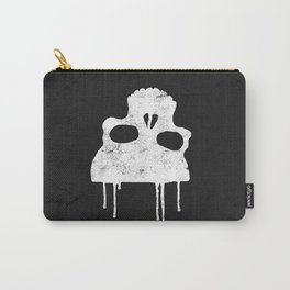 GRUNGE BACKGROUND WITH SKULL Carry-All Pouch
