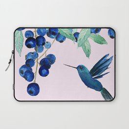 blueberry and humming bird Laptop Sleeve