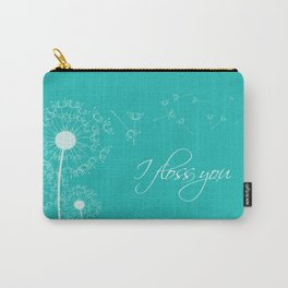 I floss you (Teal) Carry-All Pouch