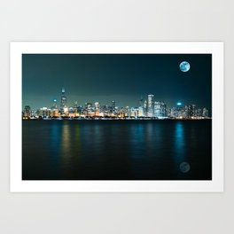 Panorama View of Adler Planetarium, Chicago, United States 1A Art Print