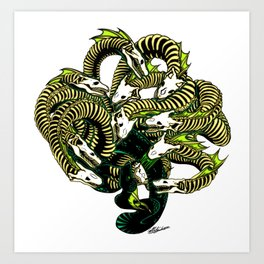 Lonely Hydra Art Print