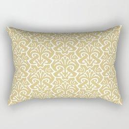 Art Nouveau Pattern Gold Rectangular Pillow
