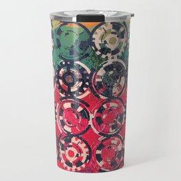 Grunge industrial pattern Travel Mug