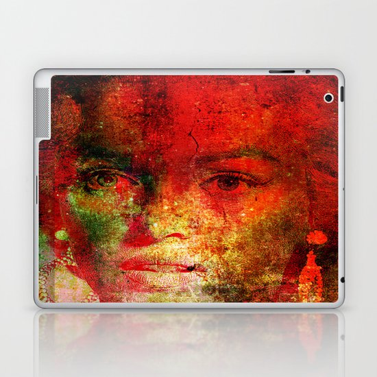 Marilyne behind the mirror Laptop & iPad Skin