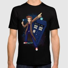 Doctor Who X-LARGE Black Mens Fitted Tee