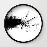 bunnies Wall Clocks featuring Bunnies by Echo Designlab
