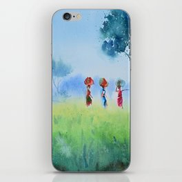 fields and workers iPhone Skin