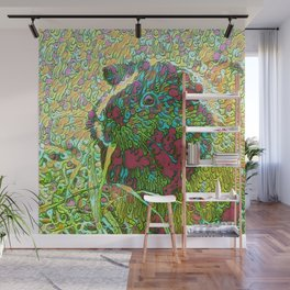 Abstract Guinea Pig Wall Mural