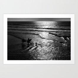 Surfboard Silhouettes Art Print