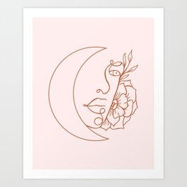 The Lonely Moon Art Print