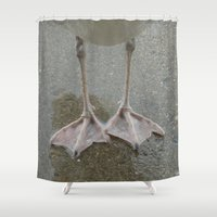 feet Shower Curtains featuring Feet by Lady Tanya bleudragon