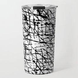 Black and White: Crisscross Travel Mug
