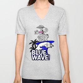 Blue Wave Design for Liberal Democrat 2018 Voters Unisex V-Neck