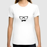 mustache T-shirts featuring Mustache by Isabel Moreno-Garcia