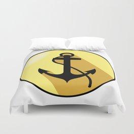 Anchor yellow elliptical arms Duvet Cover