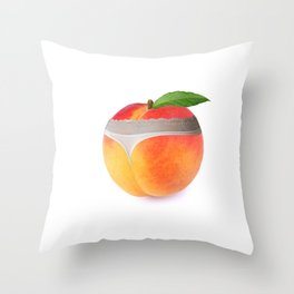 Peach booty Throw Pillow