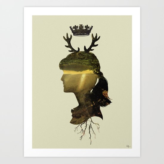 New Fawn Glory Art Print