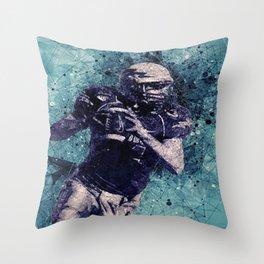 Football Player Throw Pillow