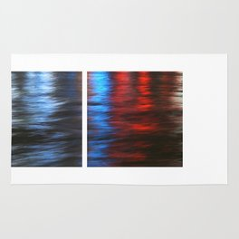 Citylights: Hong Kong Harbour #1 -LEFT & RIGHT - Diptychon Rug