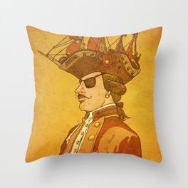 The Pirate's Head Throw Pillow