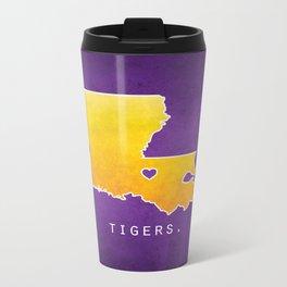 Louisiana State Tigers Metal Travel Mug