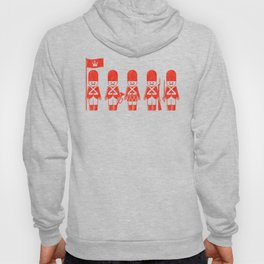 English Army, drawing with letterpress effect, inspired in toy soldiers. Hoody