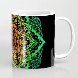 Mushroom Love Rainbow Mandala Coffee Mug