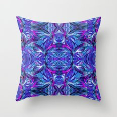 Butterfly Astract Blue Throw Pillow
