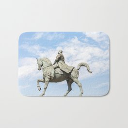 Roumania, Equestrian Statue Of Charles I, Bucarest Bath Mat