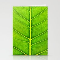 leaf Stationery Cards featuring Leaf by Patterns and Textures