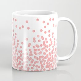 Scattered Glitter Dots in grapefruit blush pink girly cute colors for trendy cell phone case Coffee Mug