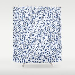 Blue Splat! Shower Curtain