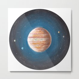 Solar System: Jupiter the Gas Giant & some of the Moons Metal Print