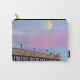 full moon over Rodanthe Pier Carry-All Pouch